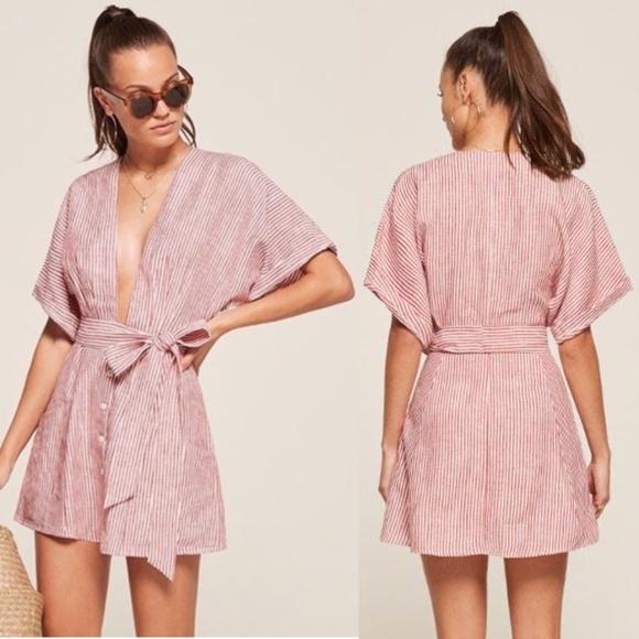 Reformation Dresses & Skirts - Reformation NWOT Cecilia Linen Dress